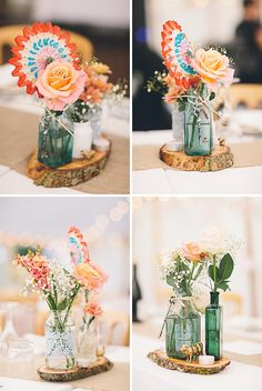 Charming table centres.  Falconhurst Estate, Kent for the wedding of Pinar & Richard. Albert Palmer Photography