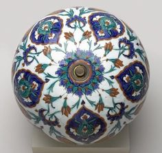 Spherical Hanging Ornament, Iznik, Turkey (Ottoman), c. 1575-85 (Brooklyn Museum)