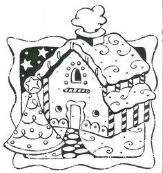 Gingerbread House Coloring Page: Gingerbread House Coloring Page