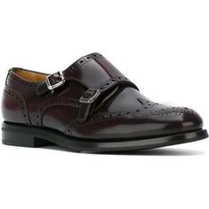 Church's Monk Strap Brogues in Burgundy as seen on Keira Knightley