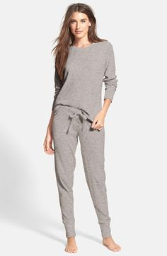 Free shipping and returns on PJ Salvage Brushed Thermal Pajamas at Nordstrom.com. Brushed thermal knit makes supersoft and cozy pajamas that pair a loose, lounge-worthy top with tapered ski-style pants.