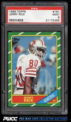Details About 1986 Topps Football Jerry Rice Rookie Rc 161 Psa 9