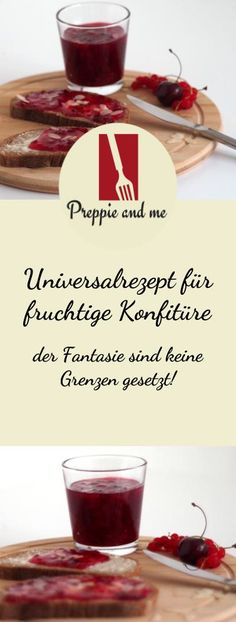 Konfitüre oder Marmelade mit Mandelblättern - Preppie and me - Homemade Jam Krups Prep&cook, Prep & Cook, Chutney, Prepping, Good Food, Food And Drink, Snacks, Vegan, Cooking