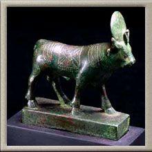 Apis-Bull, bronze. Art of Ancient Egypt, The Barakat Gallery, Emirates Palace, Abu Dhabi