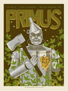INSIDE THE ROCK POSTER FRAME BLOG: Primus Silver Springs Poster by Methane Studios On Sale