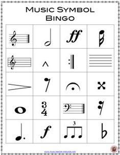 Music lessons for kids: Music Bingo: Music Symbols Music Games, Music Bingo, Music Education Games, Music Activities, Music Lessons For Kids, Piano Lessons, Kids Music, Guitar Lessons, Piano Teaching