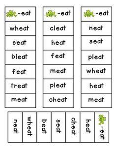 Long Vowel Word Family Bingo Strips