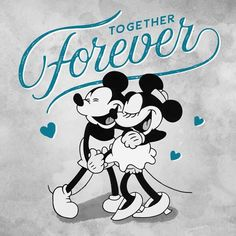 Mickey & Minnie - Together Forever Mickey And Minnie Love, Minnie Mouse, Mickey Mouse Art, Classic Mickey Mouse, Mickey Mouse Wallpaper, Mickey Mouse And Friends, Disney Wallpaper, Disney And More, Baby Disney