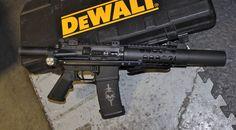 "Building a ""Honey Badger"" copy - barrel 300 AAC Blackout - Folding stock Tactical Rifles, Firearms, Shotguns, Weapons Guns, Guns And Ammo, Ar Pistol Build, Ar 15 Builds, Cool Guns, Survival"
