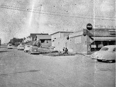 1953 - Northeast Corner of Ave. SW and SW Genesee St., looking north on The building to the right is where the Thai restaurant Buddha Ruksa is located now West Seattle, Thai Restaurant, Old West, Golden Age, Buddha, Archive, Photograph, Corner, History