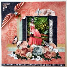 'ooh la la' collection. Vintage Scrapbook, Scrapbook Pages, Scrapbooking Layouts, Frame, Wedding, Inspiration, Collection, Decor, Picture Frame