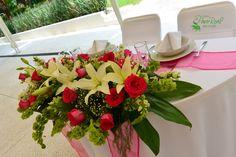 Centro de mesa #Novios #Bodas Quinta Pavo Real del Rincón www.pavorealdelrincon.com.mx