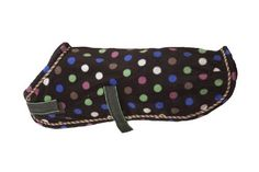 Eous Polka Dot Fleece Dog Rug by EOUS. $23.00. Machine Washable. 270g Soft Non-piling fleece. fleece. Keep your dog warm and cozy in this fun fleece rug. High quality anti-pill fleece is machine washable and matches other items for horse and rider in the whimsical Plaid Fleece Collection.