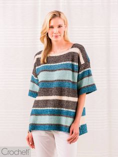 This Spring 2019 issue of Crochet! magazine gives you full-color photos, complete instructions, and how-to articles and techniques. Crochet Hoodie, Crochet Poncho Patterns, Crochet Cardigan, Scrap Crochet, Learn To Crochet, Broomstick Lace Crochet, Granny Square Sweater, Lacy Tops, Sport Weight Yarn