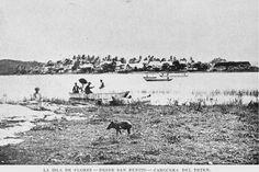 Isla de Flores Petén, 1898. Vista  de San Benito.