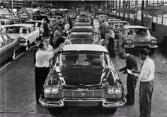 Christine 1958 Plymouth Fury Assembly Line Detroit Cars, 1950s Car, 1960s, Classic Cars British, Cool Old Cars, Plymouth Fury, Assembly Line, Classic Motors, Us Cars