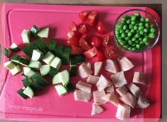 Babybrei mit Gartengemüse (Zucchini, Tomaten, Erbsen)