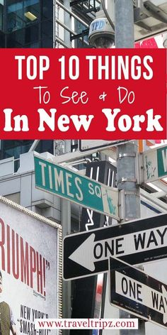 Pushed for time? Here are the Top 10 things to see & do in New York. The city that never sleep. Put New York in your travel plans.