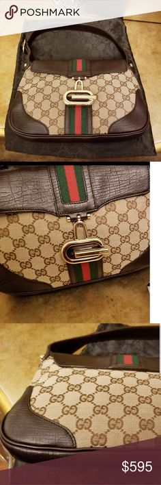 8217a9b5c Part 2 Authentic Gucci Jackie Shoulder Bag Great condition. Small, hardly  visible wear on
