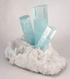 Aquamarine on Feldspar from Shengus, Skardu, Gilgit, Pakistan