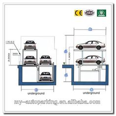 Pit Design Parking System  Save Land Area  Mode of Drive: Motor  Chain  Operation: IC Cards/Manual Buttons