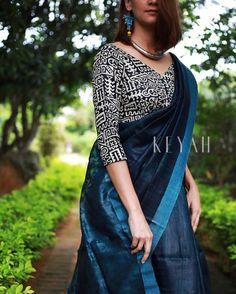 Silk Blouse Designs for your Saree Saree Jacket Designs, Saree Blouse Neck Designs, Saree Blouse Patterns, Trendy Sarees, Stylish Sarees, Simple Sarees, Fancy Sarees, Saree Styles, Blouse Styles