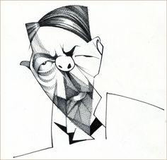Artista: Loredano Título: Max Weber Técnica: Tinta sobre papel / Blanco y negro Medidas: 20 x 28,6 cm.  Personaje: Max Weber Precio: 200€