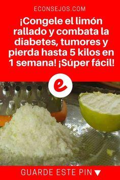 Limon congelado | ¡Congele el limón rallado y combata la diabetes, tumores y pierda hasta 5 kilos en 1 semana! ¡Súper fácil!