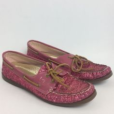 Sperry Top-Sider Raspberry Glitter Women's Shoes Size 12 M Non Marking  #SperryTopSider #BoatShoes