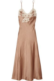 From Slip into Summer: The Must-Have Dress for the Season  La Perla Maison lace-trimmed chemise, $700