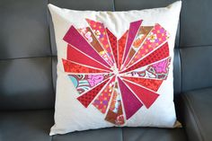 """blueSusan makes: """"Bursting"""" Heart Pillow"""