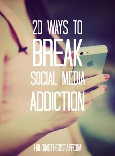 How to Beat Social Media Addiction and Break Up with Your Phone – gina m poirier - 20 Ways To Break Social Media Addiction: strategies to overcome too much time on social media and t - Social Media Break, Social Media Detox, Social Media Quotes, Social Media Tips, Addicted To Social Media, Social Work, Delaware, Nicotine Addiction, Detox Challenge