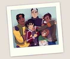 VLD fanart - team Voltron, space family photo