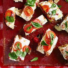 Ratatouille-Stuffed Zucchini Pizzas
