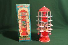 VINTAGE 1950s WIND-UP MUSICAL NURSERY MERRY GO ROUND CELLULOID JAPAN RARE | eBay