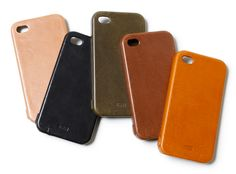 hobo Full Grain Leather iPhone 4 Case. Wish I could find a place in the US that sells them.