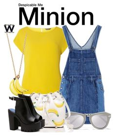 """""""Despicable Me"""" by wearwhatyouwatch ❤ liked on Polyvore featuring Dorothy Perkins, Current/Elliott, Kate Spade, Karen Walker, wearwhatyouwatch and film"""