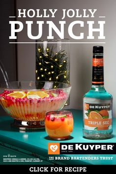Mix up the simple DeKuyper Holly Jolly Punch. This tart & sweet holiday treat is filled with all of the flavors your guests will love. Christmas Punch, Christmas Party Food, Christmas Cocktails, Christmas Appetizers, Holiday Cocktails, Xmas Party, Christmas Eve, Italian Christmas, Party Drinks
