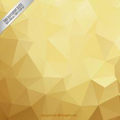 Fond polygonale tons dorés Vecteur gratuit