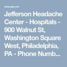 Jefferson Headache Center - Hospitals - 900 Walnut St, Washington Square West, Philadelphia, PA - Phone Number - Yelp Head Pain, Washington Square, Philadelphia Pa, Hospitals, Knowledge, Number, Phone, Telephone, Mobile Phones