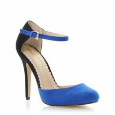Head Over Heels Ladies Multi DANU - Two Part High Heel Court Shoe | Dune Shoes Online