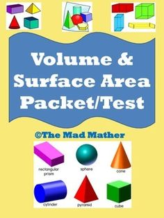 Geometry Formulas Foldable Volume Surface Area