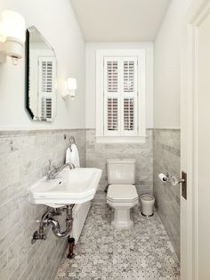 See modern powder room ideas and beautiful designs. The Architecture Designs brings modern powder room ideas, mudroom ideas, interior design ideas for you to try. Powder Room Decor, Powder Room Design, Half Bathroom Decor, Small Bathroom, Bathroom Ideas, White Bathroom, Bathroom Designs, Cloakroom Ideas, Lake Bathroom
