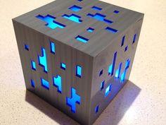LED 3D Printed Minecraft Ore Lamp Light // Lighting // Home Decor // Desktop…