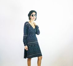 VINTAGE PAISLEY DRESS 90s dresses ethnic tribal by SubCollection