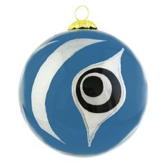 'The Beginning' Glass Ornament - Teal