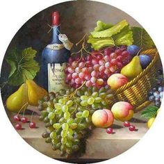 Wassap Fruit Painting, Ceramic Painting, Vintage Tags, Vintage Prints, Recycled Cds, Personalized Plates, Decoupage Vintage, Bottle Cap Images, Wine And Beer