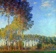 Poplars on the Banks of the River Epte, Seen from the Marsh, 1892, Claude Monet