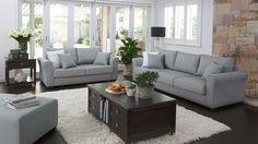 Grove 3 Piece Fabric Lounge Suite