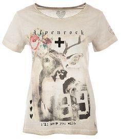 Grace Damen T-Shirt Alpenrock Beige gesehen @ www.sailerstyle.com